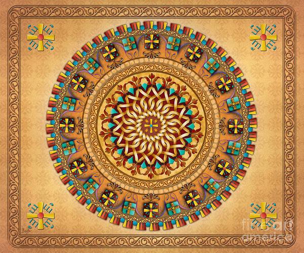 Wall Art - Digital Art - Mandala Armenia 'iyp' V2 Sp by Peter Awax
