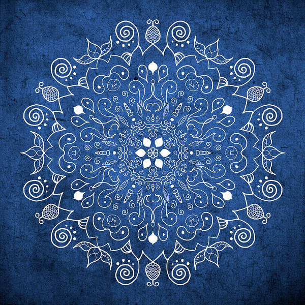 Digital Art - Denim Mandala  by Patricia Lintner