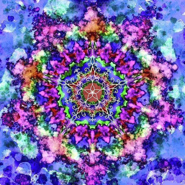 Wall Art - Digital Art - Mandala Art 4 by Patricia Lintner