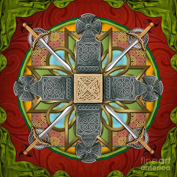 Blades Mixed Media - Mandala Celtic Glory by Peter Awax