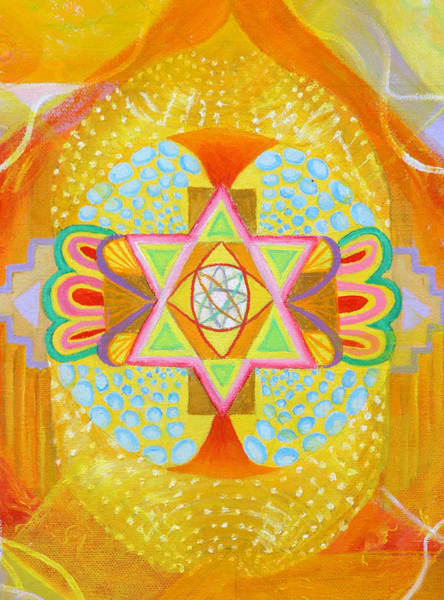 Painting - Mandala Detail From Gestation by Anne Cameron Cutri