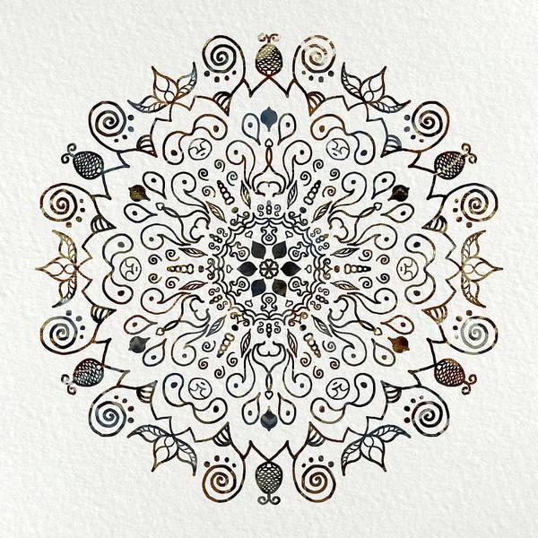 Sacred Mixed Media - Mandala Earth And Water 2 by Patricia Lintner