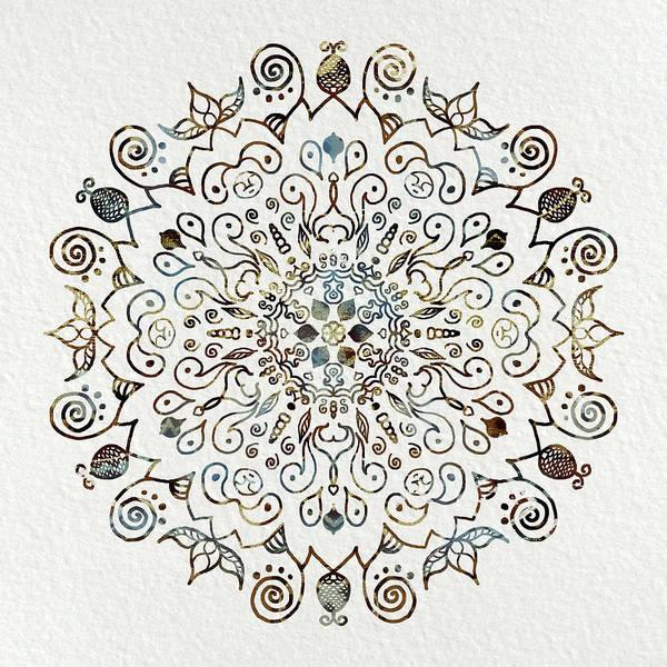Sacred Mixed Media - Mandala Earth And Water 4 by Patricia Lintner