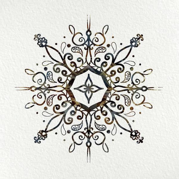 Sacred Mixed Media - Mandala Earth And Water by Patricia Lintner