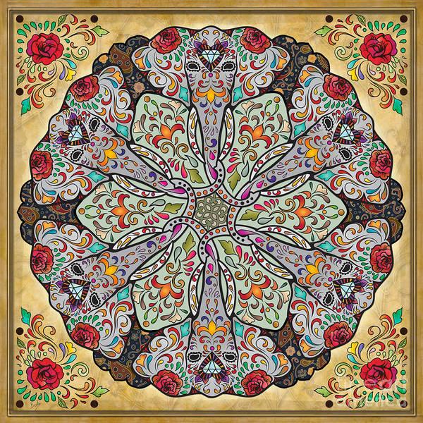 Elegant Mixed Media - Mandala Elephants by Peter Awax