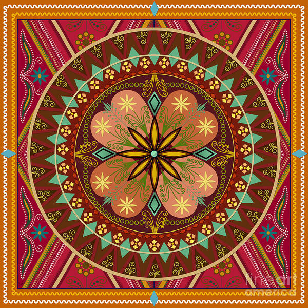 Native Mixed Media - Mandala Esmeralda by Peter Awax