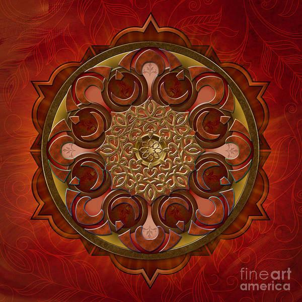 Wall Art - Digital Art - Mandala Flames by Peter Awax