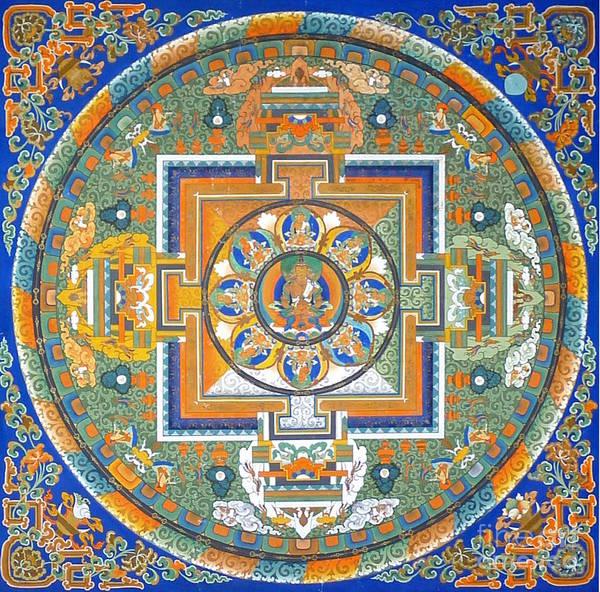 Tibetan Painting - Mandala From Lhasa by Birgit Moldenhauer