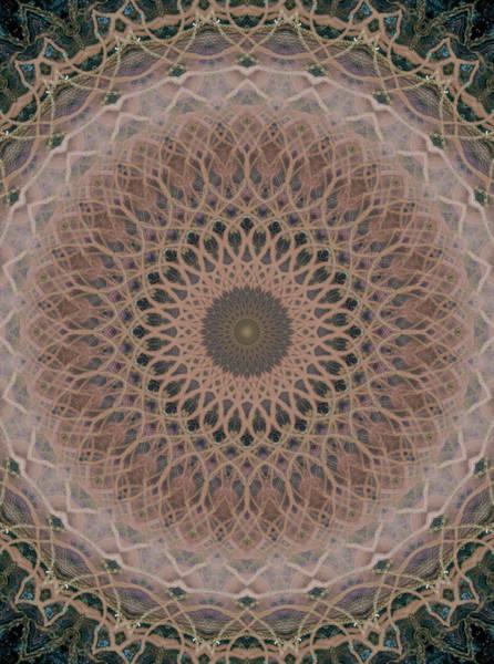 Wall Art - Photograph - Mandala In Brown And Beige Tones by Jaroslaw Blaminsky