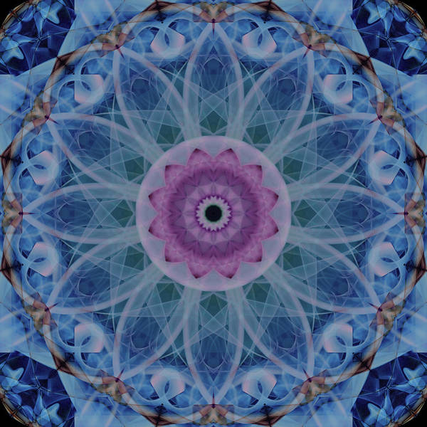 Photograph - Mandala In Light Blue And Pink Colors by Jaroslaw Blaminsky