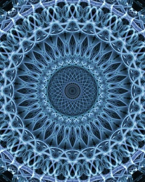 Photograph - Mandala In Light Blue Tones by Jaroslaw Blaminsky