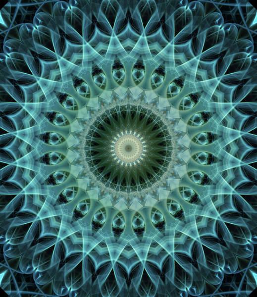 Photograph - Mandala In Light Green And Blue Tones by Jaroslaw Blaminsky