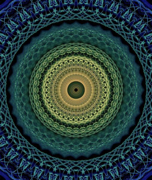 Photograph - Mandala In Yellow,gren And Blue Tones by Jaroslaw Blaminsky