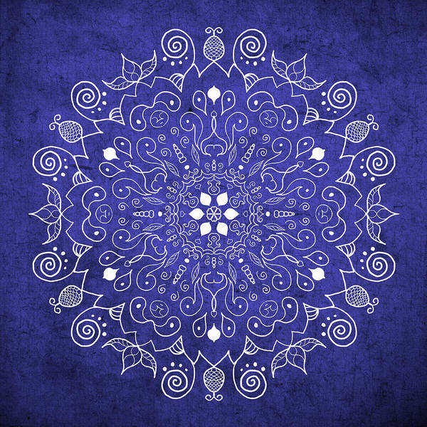 Wall Art - Photograph - Mandala Midnight Blue by Patricia Lintner