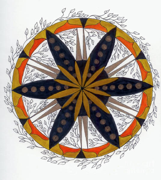 Wall Art - Drawing - Mandala Of Growth by Nancy TeWinkel Lauren