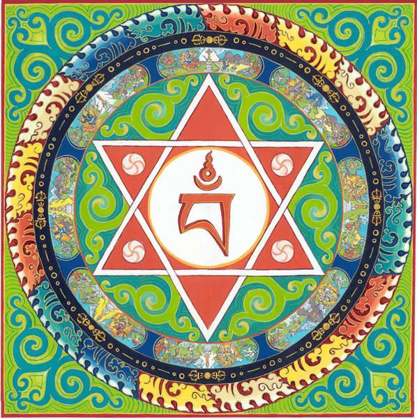 Thangka Painting - Mandala Of Vajrayogini by Berty Sieverding