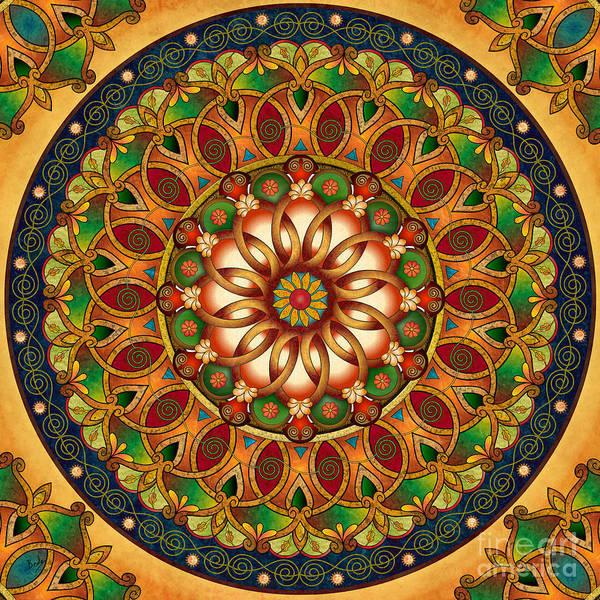 Wall Art - Digital Art - Mandala Rebirth by Peter Awax