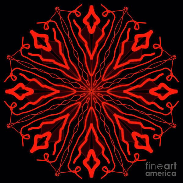 Tibetan Painting - Mandala Red And Black, Fire Mandala by Drawspots Illustrations