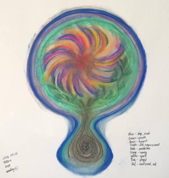 Pastel - Mandala Return by Annette Hadley