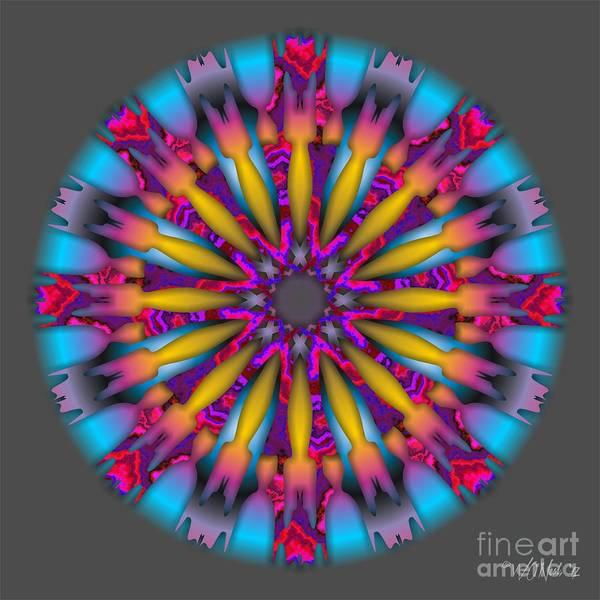 Digital Art - Mandala Series 2-1 by Walter Neal