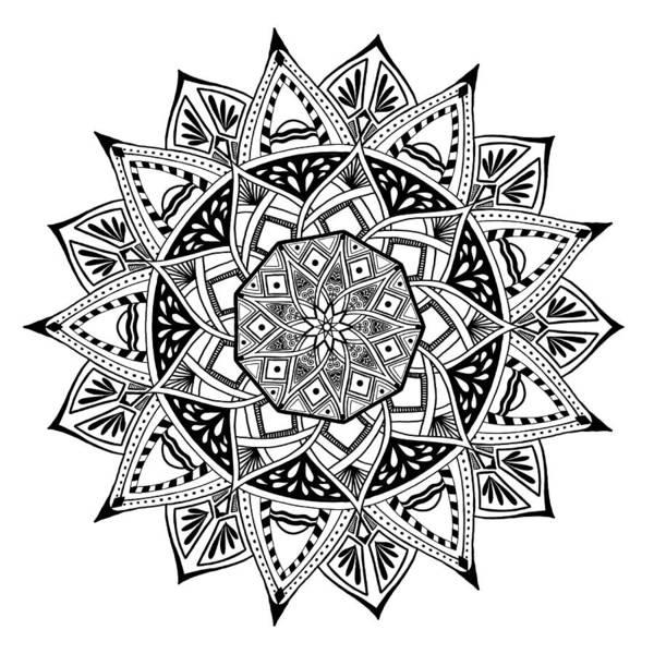 Digital Art - Mandala X 1001 by Lisa Schwaberow
