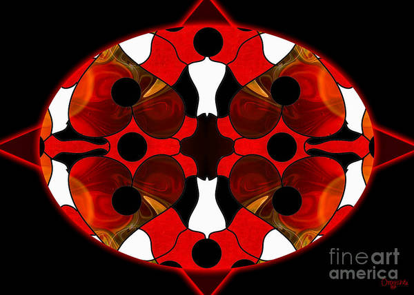 Digital Art - Mandalas For Life Abstract By Omashte by Omaste Witkowski
