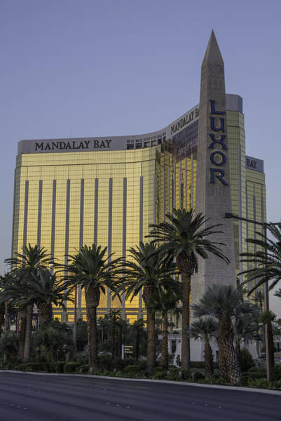 Wall Art - Photograph - Mandalay Bay And The Luxor Sign by Keith Mucha