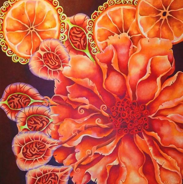 Wall Art - Painting - Mandarin by Elizabeth Elequin