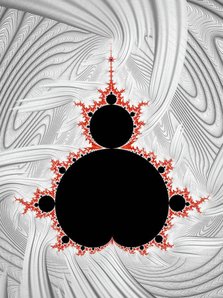Endless Painting - Mandelbrot Set Black Red Silver by Matthias Hauser