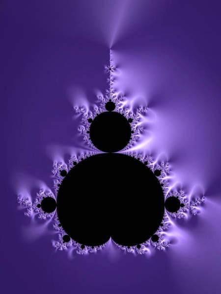 Digital Art - Mandelbrot Set Ultra Violet And Black Math Art by Matthias Hauser
