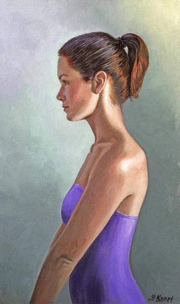 Profile Wall Art - Painting - Mandy-profile by Paul Krapf