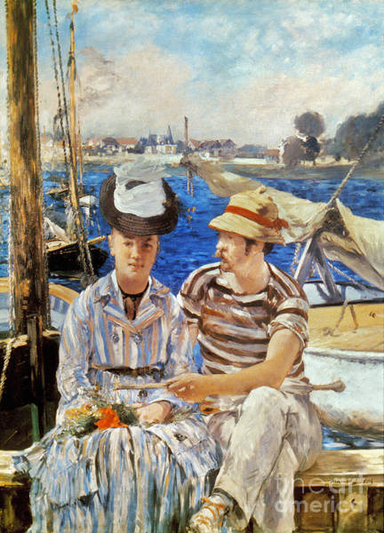 Photograph - Manet: Boaters, 1874 by Granger