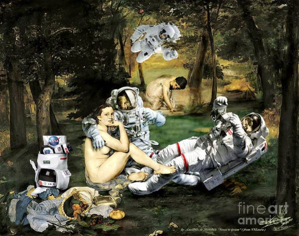 Xxx Painting - manET.Breakfast cosmogonic the green grass by Lucian Ioan DOBARTA LuciDO