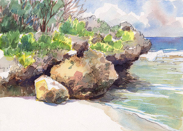 Painting - Mangaia West Coast by Judith Kunzle