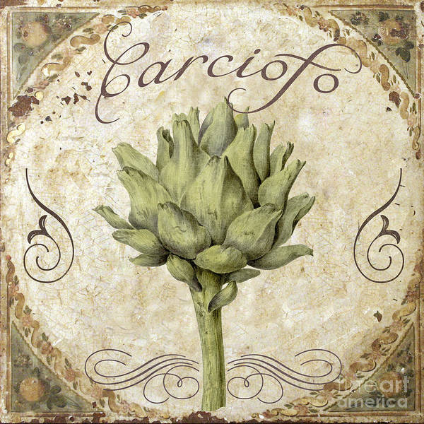 Vegan Painting - Mangia Carciofo Artichoke by Mindy Sommers