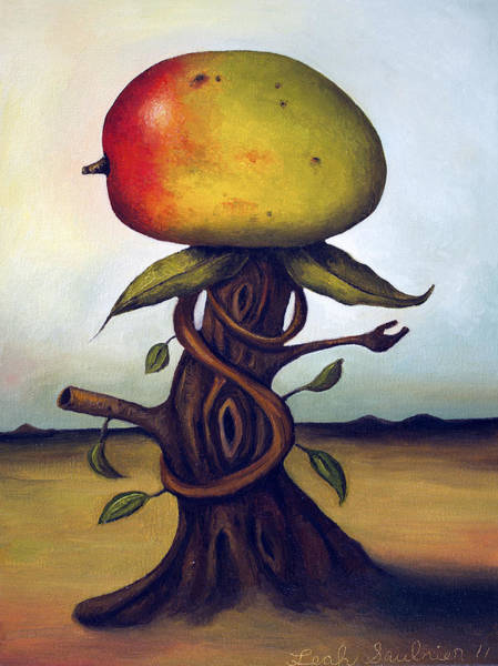 Wall Art - Painting - Mango Tree Aka Senor Mango by Leah Saulnier The Painting Maniac