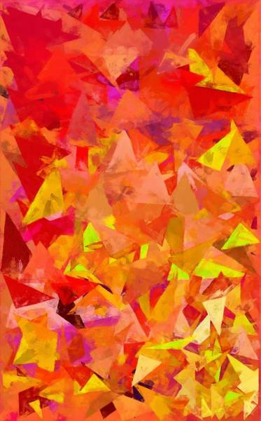 Digital Art - Mango Triangles by Caito Junqueira