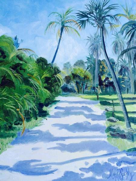 Captiva Island Painting - Mangrove Lane by Maggii Sarfaty