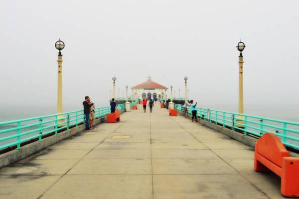 Photograph - Manhattan Beach Pier On A Foggy Morning by Glenn McCarthy