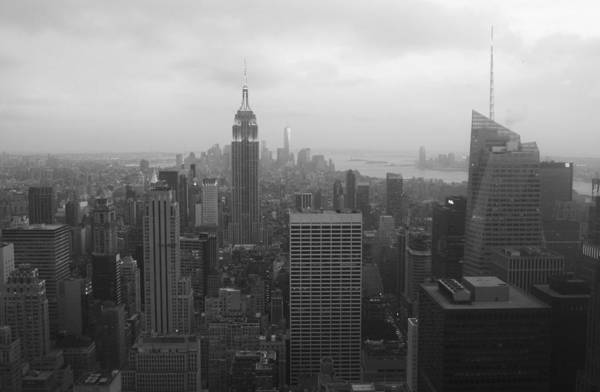 Manhattan Black And White Art Print