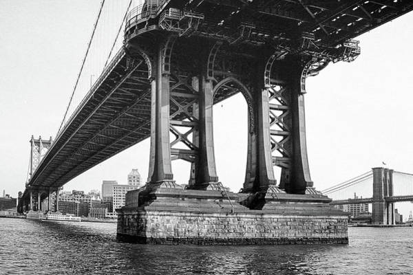 Photograph - Manhattan Bridge, Afternoon by Gary Heller