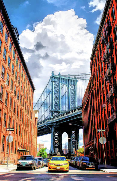 Painting - Manhattan Bridge New York City by Christopher Arndt