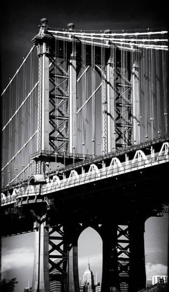 Photograph - Manhattan Bridge Noir by Jessica Jenney