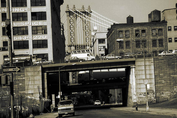 Photograph - Old New York Photo - Dumbo District Brooklyn by Peter Potter