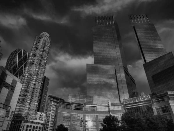 Photograph - Manhattan - Columbus Circle 001 Bw by Lance Vaughn