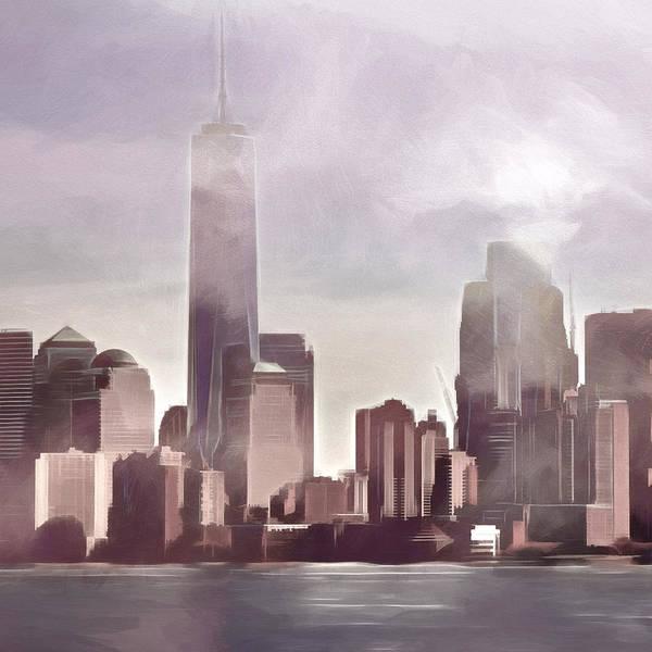 Photograph - Manhattan Drama by Lutz Baar