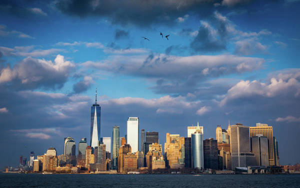 Photograph - Manhattan Dramatic Skyline by Framing Places