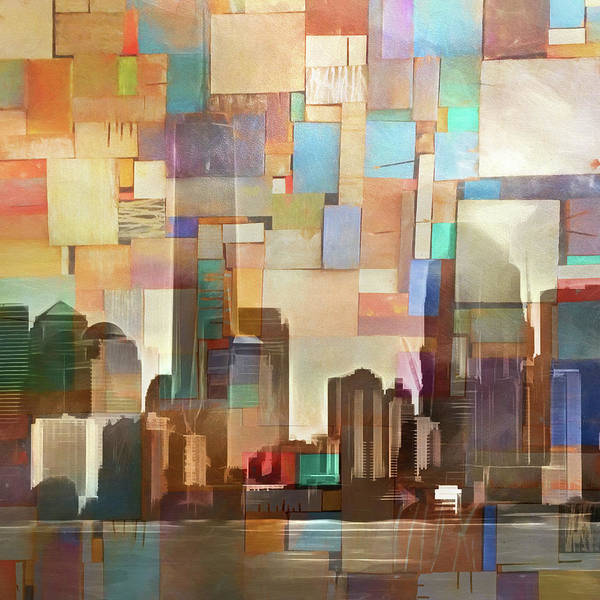 Manhattan Skyline Painting - Manhattan Impression by Lutz Baar