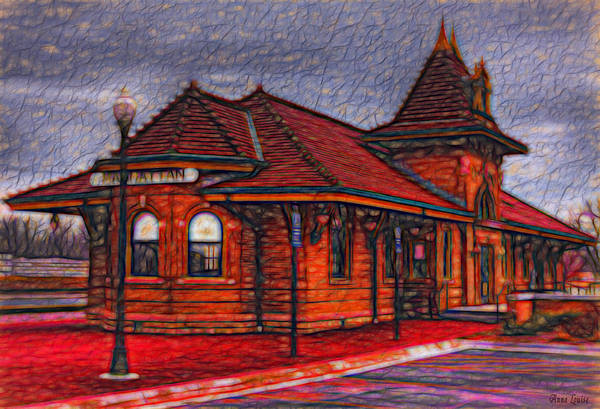Photograph - Manhattan Kansas Train Depot 2 by Anna Louise