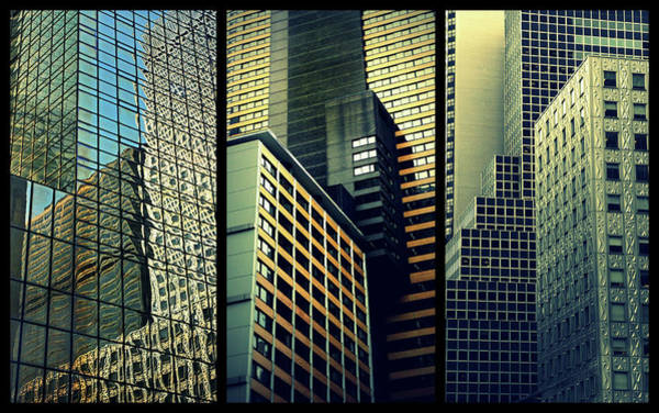 Wall Art - Photograph - Manhattan Melange Triptych by Jessica Jenney